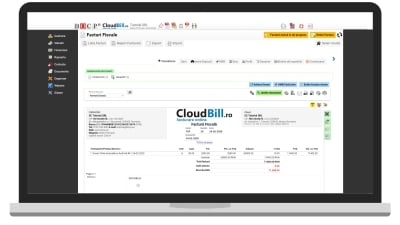 Laptop cu CloudBill facturier online